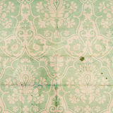 Vintage Damask Scrapbook background pattern. In blue green stock images
