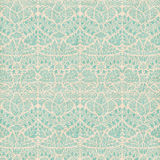Vintage Damask Scrapbook background pattern. Vintage Shabby Damask Scrapbook background pattern in blue green royalty free stock images