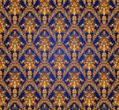 Vintage damask seamless background. Floral motif pattern. Royalty Free Stock Images