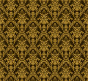 Vintage damask seamless background. Floral motif pattern. Stock Images