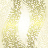 Vintage damask seamless background with a ribbons Royalty Free Stock Photos
