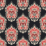 Vintage damask seamless ornamental pattern. For fabric Royalty Free Stock Image