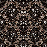 Vintage damask seamless pattern background Royalty Free Stock Photography
