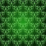 Vintage Damask seamless pattern on green Royalty Free Stock Photo