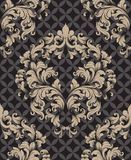 Vintage Damask Seamless pattern Vector. Luxury ornament elegant structure retro theme decors royalty free stock images