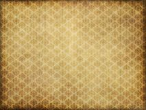 Vintage damask wallpaper. Old brown and yellow damask patterned wallpaper Royalty Free Stock Photography