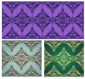 Vintage damask wallpapers Stock Image