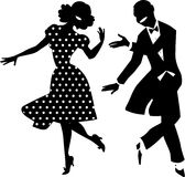 Vintage Dancers Royalty Free Stock Photography