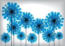 Vintage dandelion flowers background Stock Image