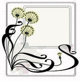 Vintage dandelions. Image with copy space for text Stock Image