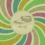 Vintage dandy card Stock Photo