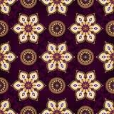 Vintage dark violet seamless pattern Royalty Free Stock Photos