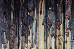 Vintage dark wooden background.  Beige and dark blue old board. Wood background. Royalty Free Stock Images