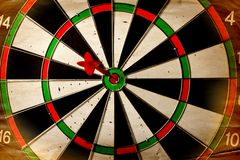 Vintage dart board Royalty Free Stock Image
