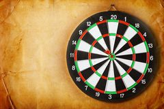 Vintage dart board Royalty Free Stock Photos