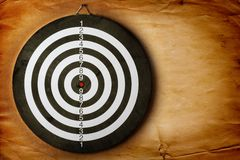 Vintage dart board Royalty Free Stock Images