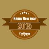 Vintage das etiquetas do ano novo feliz 2015 Fotografia de Stock