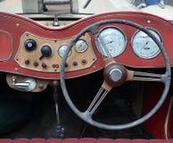 Vintage dashboard. Dashboard of old vintage car stock images