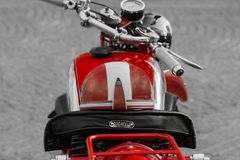 Vintage motorcycle rally. Vintage day with the motorbikes that made history. the guzzi brand is a worthy representative Royalty Free Stock Image