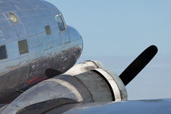 Vintage DC-2 Propeller Airplane Royalty Free Stock Images