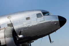 Vintage DC-2 Propeller Airplane Royalty Free Stock Photo