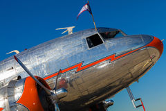 Vintage DC-3 airplane Stock Image