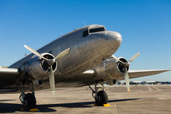 Vintage DC-3 Airplane Royalty Free Stock Photography