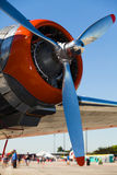 Vintage DC-3 airplane engine Royalty Free Stock Images