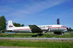 A vintage DC-6 Liftmaster airplane from Northern Air Cargo (NAC) Stock Photography