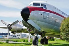 A vintage DC-6 Liftmaster airplane from Northern Air Cargo (NAC) Royalty Free Stock Photos