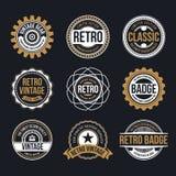 Vintage de cercle et rétro conception d'insigne illustration libre de droits