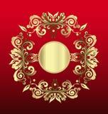 Vintage de décoration florale d'or illustration stock