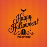 Vintage de Halloween que pone letras al fondo adornado Foto de archivo