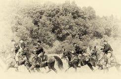Vintage de la caballería de la unión Imagenes de archivo