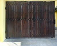 Vintage de la puerta y acción de madera de la foto del fondo Fotografía de archivo libre de regalías