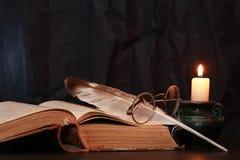Vintage de la vela de la iluminación Fotografía de archivo libre de regalías