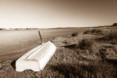 Vintage de lagune de rivière de mer de bateau Photo libre de droits