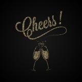 Vintage de las alegrías Oro Champagne Background ilustración del vector