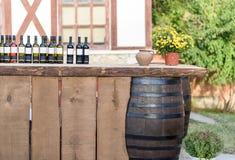 Vintage de las botellas de vino Imagen de archivo libre de regalías