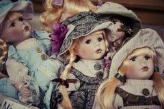 Vintage de las muñecas Fotos de archivo libres de regalías