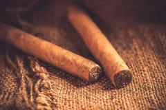 Vintage de los cigarros Fotografía de archivo