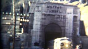 (vintage de 8m m) 1952 parque del invierno del túnel del tren de Moffet, Colorado EE.UU. almacen de video