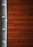 Vintage de madeira e fundo do metal ilustração royalty free