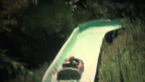 (vintage de 8mm) passeio mágico 1976 do log da montanha vídeos de arquivo
