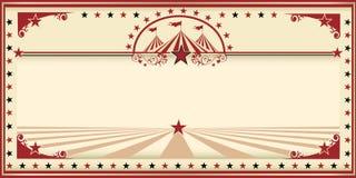 Vintage de rouge de carte de cirque Images stock