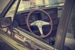 Vintage de Volante de coche Imagen de archivo libre de regalías