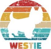 Vintage de Westie retro imagens de stock royalty free