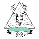 Vintage Dear logo. Design for t-shirt Stock Photo