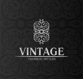 Vintage decor label ornament background emblem Royalty Free Stock Photos