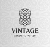 Vintage decor label ornament background emblem Stock Image